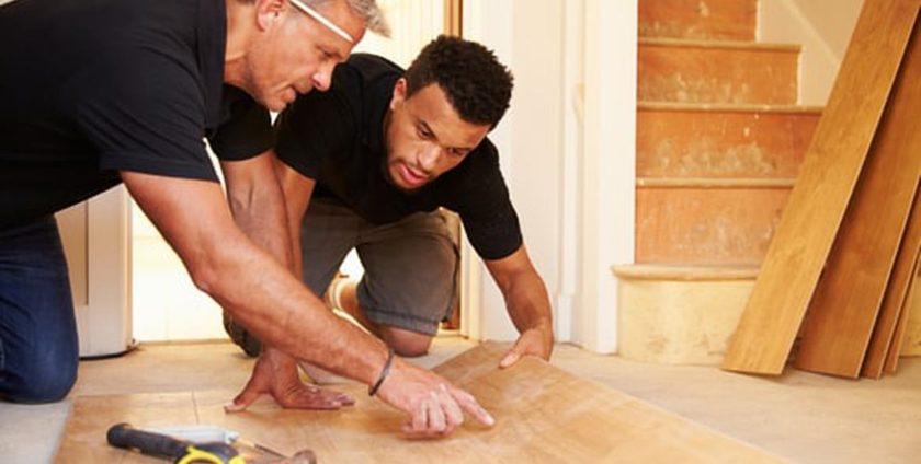 Afwerking houten vloer