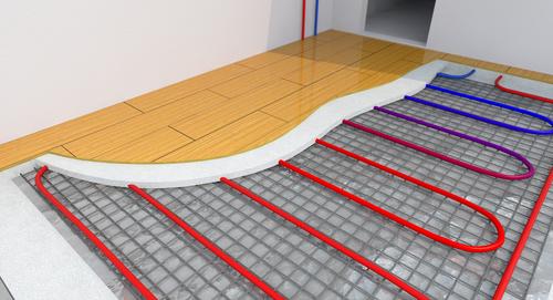 vloerverwarming vloer